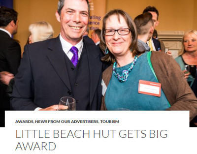 dunster beach holidays, chalet, kirsty allsop, Visit England, BBS, Bristol bath somerset, tourism awards, visit england, visit somerset, self catering business of the year, dog friendly business of the year, Exmoor Magazine