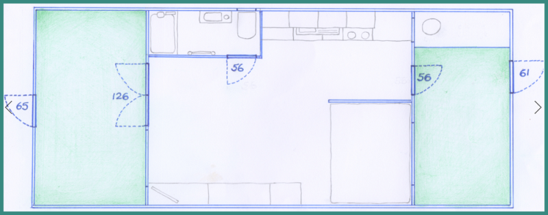dunster, beach, salad days, dunster beach hut, accessibility floor plan, accessibility, access statement