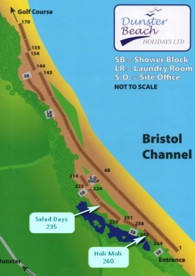 directions, dunster beach, travelling, beach, beach huts, chalets, dunster beach chalet, beach, map. area map, site map